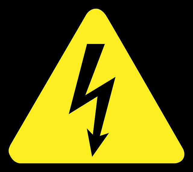 Znak elektrického napätia